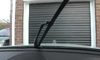 Windshield wiper arm on a car