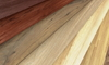 A close-up image of different types of wood grains.