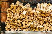 pile of split logs