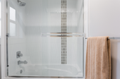 Shower with sliding glass doors