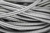 Coils of flexible metal conduits.