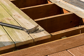 a deck being built