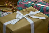 Various wrapped presents and gifts