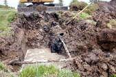 A sewage system.