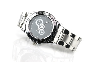 A watch on a white background.