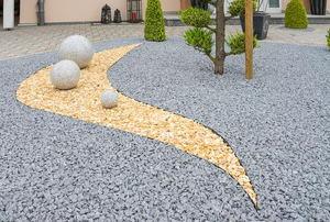 A minimal rock garden.