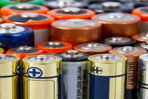 A variety of batteries.