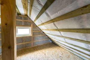 A crawlspace with a window.
