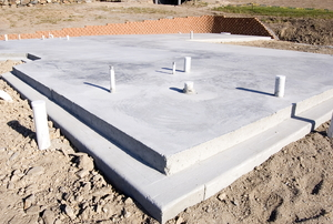 a concrete slab