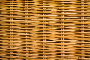 A close-up of wicker.