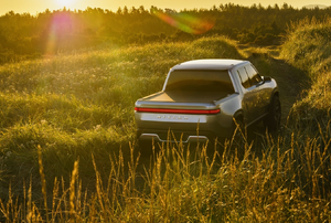a truck in a field of grass
