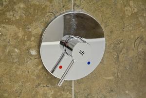 A granite shower.