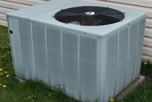 the outside fan of a central AC unit