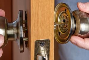 Removing a door knob from a door