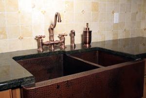A double kitchen sink.