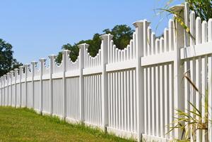A vinyl fence.