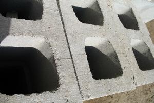 A close-up image of concrete blocks.