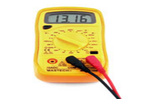 a yellow meter device