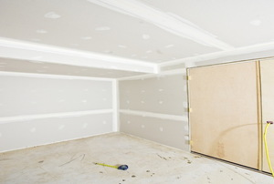 drywall in a basement