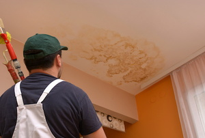 a ceiling Water Stain