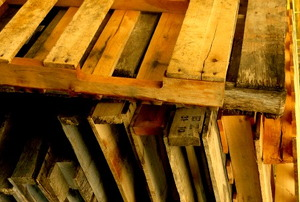 A stack of pallets ready to be repurposed.
