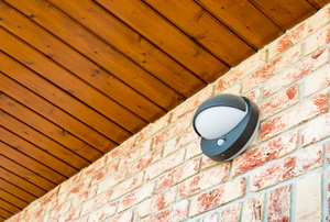 Motion sensors outside of a home.