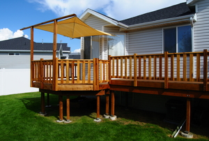 a Deck with canopy
