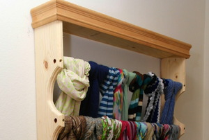 A custom scarf rack.