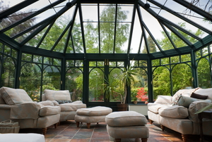 A sunroom conservatory.