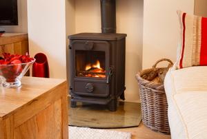 A wood stove.