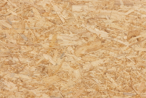 close-up of particleboard grain