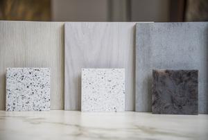 flooring and granite countertop samples