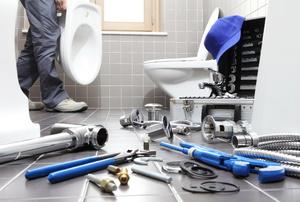 Various plumbing tools.