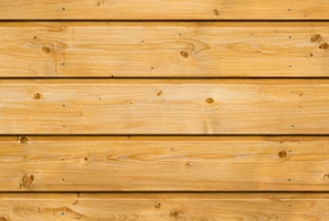grooved natural wood siding