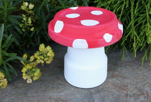 completed garden toad stool