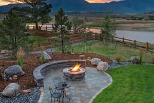A patio fire pit.