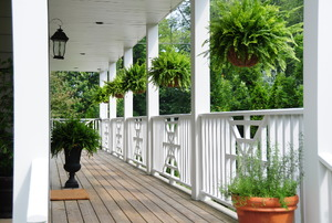 Vinyl porch railings.