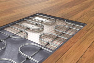 A profile of a radiant heated floor.