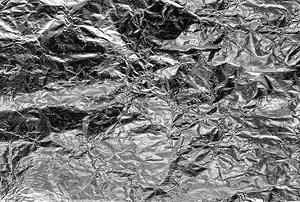 A crumpled-foil background.