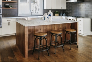 Bar stools at a breakfast bar