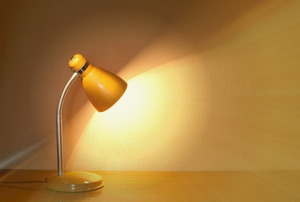 An over heating desk lamp.