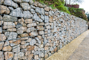 A retaining wall