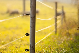 An electric fence.