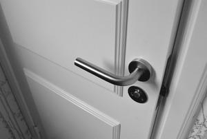 A door lever handle.