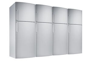Refrigerator (isolated with clipping path over white background)
