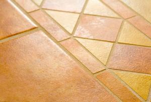 Ceramic tile floors.