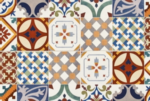 colorful tiles with pattern designs