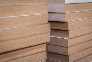Stacked MDF.