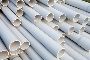 PVC pipes stacked together