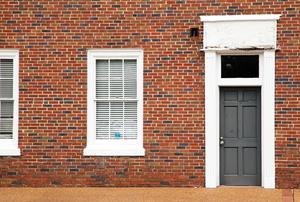 a brick exterior wall